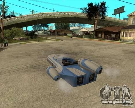X34 Landspeeder für GTA San Andreas linke Ansicht