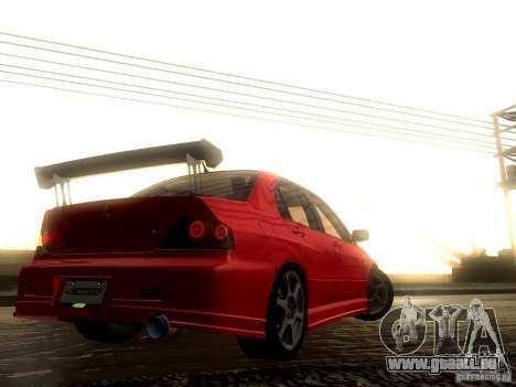 Mitsubishi Lancer Evolution VIII Full Tunable pour GTA San Andreas vue de dessus