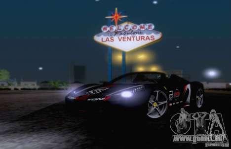 Ferrari F458 für GTA San Andreas obere Ansicht