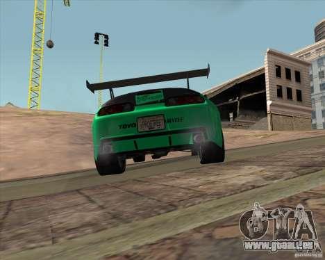Toyota Supra ZIP style für GTA San Andreas Rückansicht