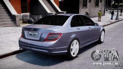 Mercedes-Benz C180 CGi Classic Special 2009 pour GTA 4 est un côté