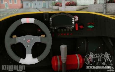 Radical SR3 RS 2009 pour GTA San Andreas vue intérieure