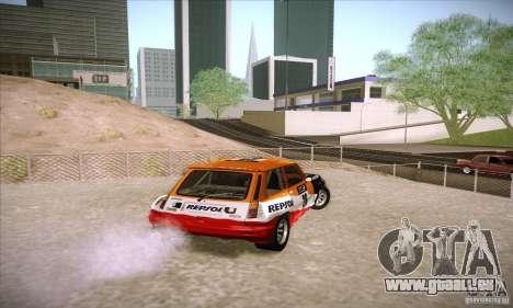 Renault 5 GT Turbo Rally pour GTA San Andreas sur la vue arrière gauche