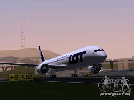 Boeing 787-9 LOT Polish Airlines für GTA San Andreas Rückansicht