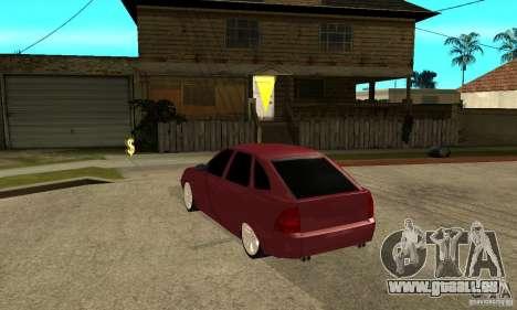 VAZ Lada Priora 2172 LT pour GTA San Andreas sur la vue arrière gauche