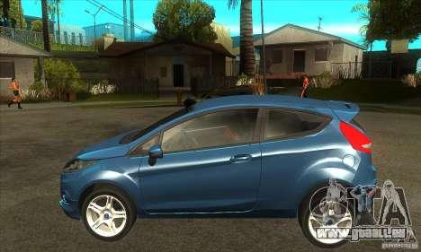 Ford Fiesta Zetec S 2009 für GTA San Andreas linke Ansicht
