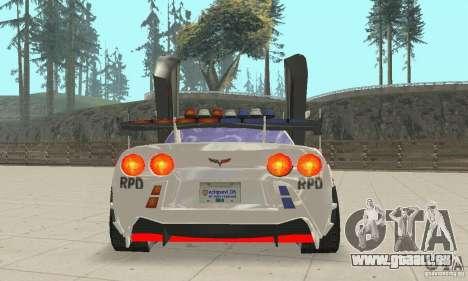 Chevrolet Corvette C6 Polizei-Sergeant Cross NFS für GTA San Andreas Innenansicht
