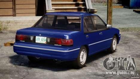 Mercury Tracer 1993 v1.0 pour GTA 4 vue de dessus