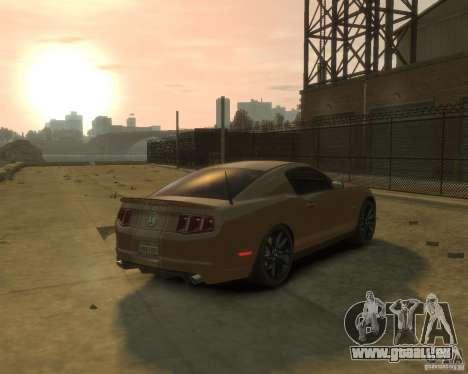 2011 Shelby GT500 Super Snake pour GTA 4 Vue arrière de la gauche