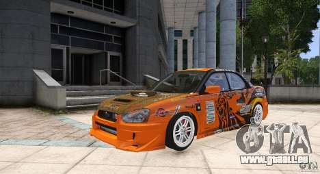 Subaru Impreza WRX STi GDB Team Orange für GTA 4