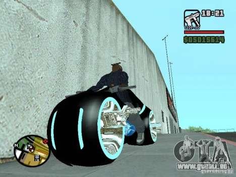 Tron legacy bike v.2.0 pour GTA San Andreas vue de droite
