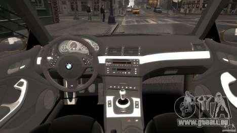 BMW M3 E46 Tuning 2001 v2.0 pour GTA 4 est un droit