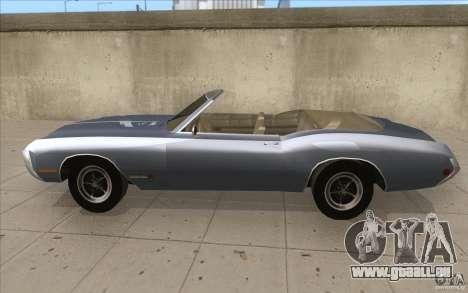 Buick Riviera GS 1969 pour GTA San Andreas laissé vue