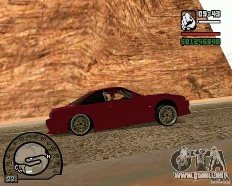 Nissan Silvia S14 DoRiftar für GTA San Andreas zurück linke Ansicht