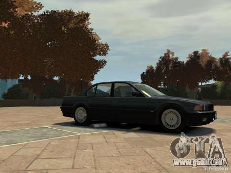 BMW 750i (E38) 1998 pour GTA 4 Vue arrière de la gauche