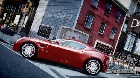 Alfa Romeo 8C Competizione pour GTA 4 est une gauche