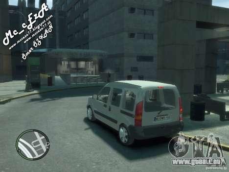 Renault Kangoo 2007 pour GTA 4 est une vue de dessous