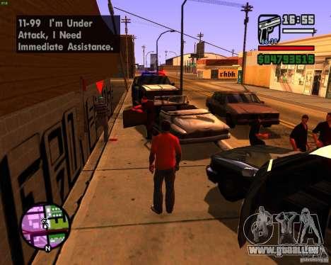 Chassant les machines pour GTA San Andreas troisième écran