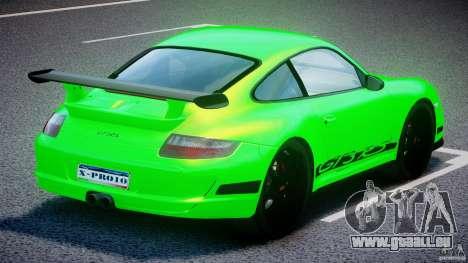 Porsche 997 GT3 RS pour GTA 4 vue de dessus