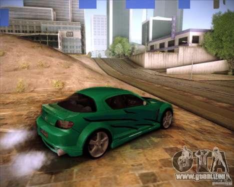 Mazda RX-8 für GTA San Andreas zurück linke Ansicht