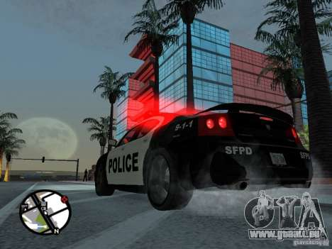 Dodge Charger Police für GTA San Andreas linke Ansicht