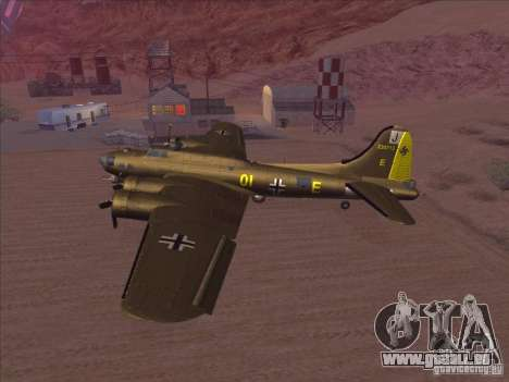 B-17G Flying Fortress pour GTA San Andreas sur la vue arrière gauche