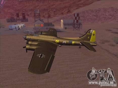 B-17G Flying Fortress für GTA San Andreas zurück linke Ansicht