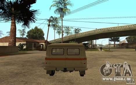 UAZ 450v für GTA San Andreas zurück linke Ansicht