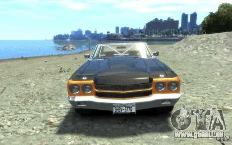 Chevrolet Chevelle SS 1970 pour GTA 4 est une vue de l'intérieur