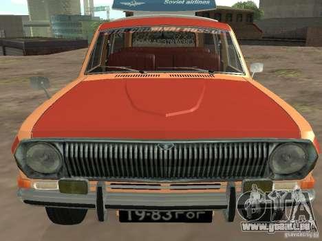 Volga GAZ-24 AEROFLOT 02 pour GTA San Andreas vue arrière