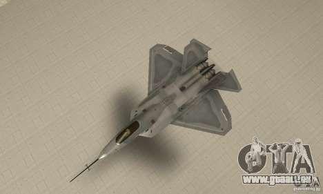 YF-22 Grey pour GTA San Andreas vue de droite