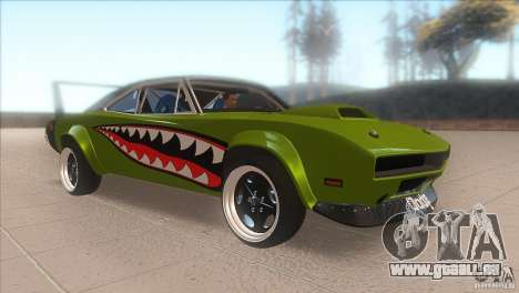 Dodge Charger RT SharkWide pour GTA San Andreas vue arrière