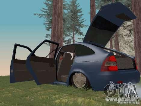 LADA 2170 Hatchback pour GTA San Andreas vue intérieure