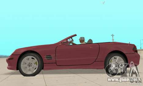 Mercedes-Benz SL500 (R230) pour GTA San Andreas sur la vue arrière gauche