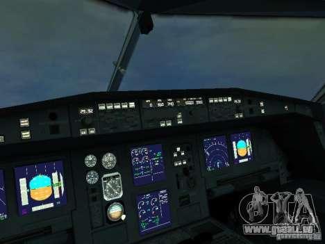 Airbus A340-300 Air France für GTA San Andreas Innenansicht