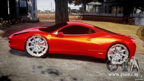 Ferrari 458 Italia Dub Edition pour GTA 4 est une vue de l'intérieur