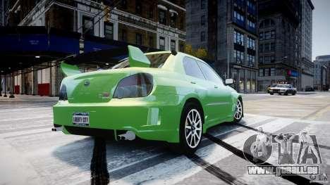 Subaru Impreza STI Wide Body pour GTA 4 vue de dessus