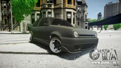 Volkswagen Golf 2 Low is a Life Style pour GTA 4 Vue arrière de la gauche