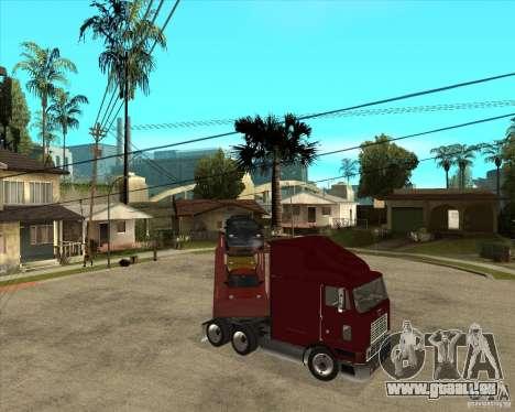 Auflieger-LKW für GTA San Andreas Unteransicht