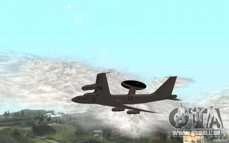 Boeing E-3 Sentry pour GTA San Andreas sur la vue arrière gauche