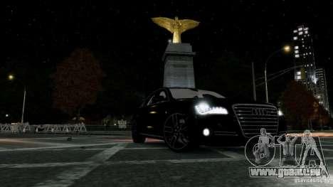 Audi A8 LED 2012 pour GTA 4 vue de dessus