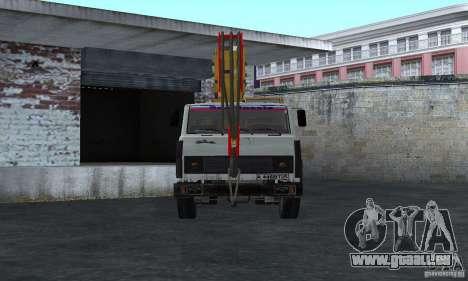 MAZ-LKW-Kran für GTA San Andreas rechten Ansicht