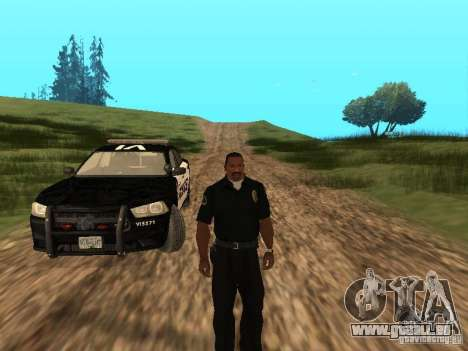 Dodge Charger Canadian Victoria Police 2011 für GTA San Andreas obere Ansicht