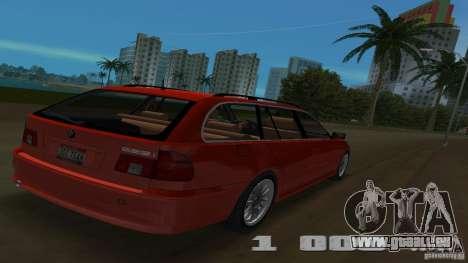 BMW 5S Touring E39 pour GTA Vice City vue arrière