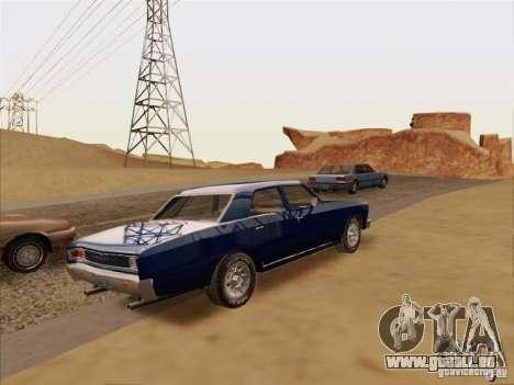 Chevrolet Chevelle pour GTA San Andreas vue arrière