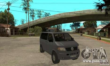 Volkswagen Transporter T5 TDI pour GTA San Andreas vue arrière