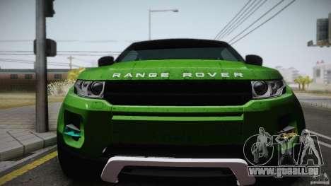 Land Rover Range Rover Evoque v1.0 2012 pour GTA San Andreas vue de droite