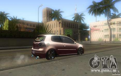 Volkswagen Golf MK5 pour GTA San Andreas laissé vue