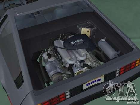 DeLorean DMC-12 für GTA San Andreas Rückansicht