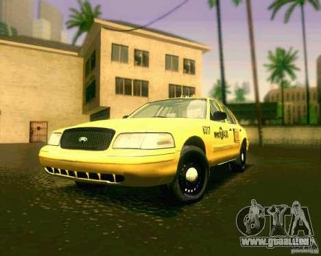 Ford Crown Victoria 2003 NYC TAXI pour GTA San Andreas laissé vue